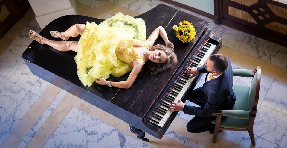Decor de nunta - pian